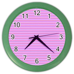 Lines Pattern Color Wall Clocks by Valentinaart