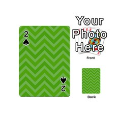 Zigzag  Pattern Playing Cards 54 (mini)  by Valentinaart