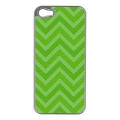 Zigzag  Pattern Apple Iphone 5 Case (silver) by Valentinaart