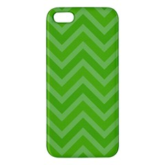 Zigzag  Pattern Apple Iphone 5 Premium Hardshell Case by Valentinaart
