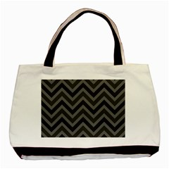 Zigzag  Pattern Basic Tote Bag (two Sides) by Valentinaart