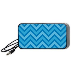 Zigzag  Pattern Portable Speaker (black) by Valentinaart