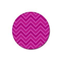 Zigzag  Pattern Magnet 3  (round) by Valentinaart