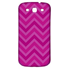 Zigzag  Pattern Samsung Galaxy S3 S Iii Classic Hardshell Back Case by Valentinaart
