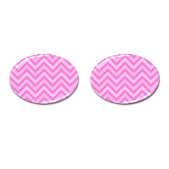Zigzag  Pattern Cufflinks (oval) by Valentinaart