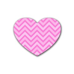 Zigzag  Pattern Heart Coaster (4 Pack)  by Valentinaart