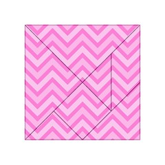 Zigzag  Pattern Acrylic Tangram Puzzle (4  X 4 ) by Valentinaart