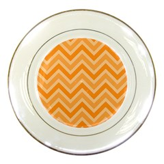 Zigzag  Pattern Porcelain Plates by Valentinaart