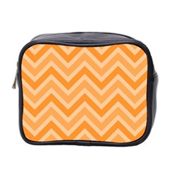 Zigzag  Pattern Mini Toiletries Bag 2 Side by Valentinaart