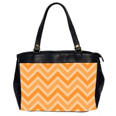 Zigzag  Pattern Office Handbags (2 Sides)  by Valentinaart