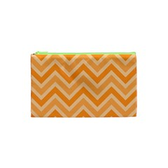 Zigzag  Pattern Cosmetic Bag (xs) by Valentinaart