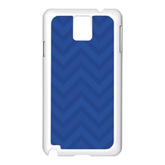 Zigzag  Pattern Samsung Galaxy Note 3 N9005 Case (white) by Valentinaart