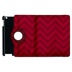 Zigzag  Pattern Apple Ipad 2 Flip 360 Case by Valentinaart