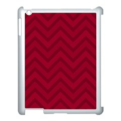 Zigzag  Pattern Apple Ipad 3/4 Case (white) by Valentinaart