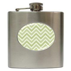 Zigzag  Pattern Hip Flask (6 Oz) by Valentinaart