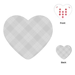 Zigzag  Pattern Playing Cards (heart)  by Valentinaart