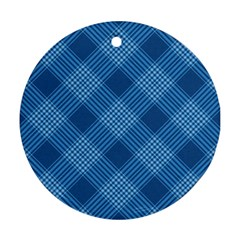 Zigzag  Pattern Round Ornament (two Sides) by Valentinaart
