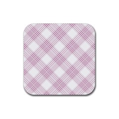Zigzag Pattern Rubber Coaster (square)  by Valentinaart