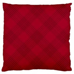 Zigzag Pattern Large Cushion Case (one Side) by Valentinaart