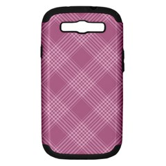 Zigzag Pattern Samsung Galaxy S Iii Hardshell Case (pc+silicone) by Valentinaart
