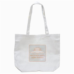 My Other Ship s Cigar Shaped Tote Bag (white) by RakeClag