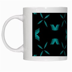 Background Black Blue Polkadot White Mugs by Mariart