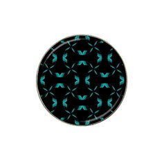 Background Black Blue Polkadot Hat Clip Ball Marker by Mariart