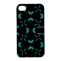 Background Black Blue Polkadot Apple Iphone 4/4s Hardshell Case With Stand by Mariart