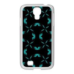 Background Black Blue Polkadot Samsung Galaxy S4 I9500/ I9505 Case (white) by Mariart