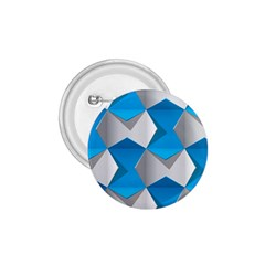 Blue White Grey Chevron 1 75  Buttons by Mariart