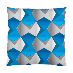 Blue White Grey Chevron Standard Cushion Case (two Sides) by Mariart