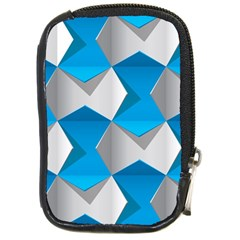 Blue White Grey Chevron Compact Camera Cases by Mariart