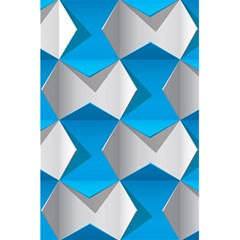 Blue White Grey Chevron 5 5  X 8 5  Notebooks by Mariart