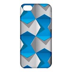 Blue White Grey Chevron Apple Iphone 5c Hardshell Case by Mariart