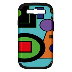 Basic Shape Circle Triangle Plaid Black Green Brown Blue Purple Samsung Galaxy S Iii Hardshell Case (pc+silicone) by Mariart