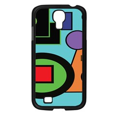 Basic Shape Circle Triangle Plaid Black Green Brown Blue Purple Samsung Galaxy S4 I9500/ I9505 Case (black) by Mariart