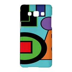Basic Shape Circle Triangle Plaid Black Green Brown Blue Purple Samsung Galaxy A5 Hardshell Case  by Mariart