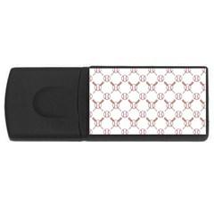Baseball Bat Scrapbook Sport Usb Flash Drive Rectangular (4 Gb) by Mariart