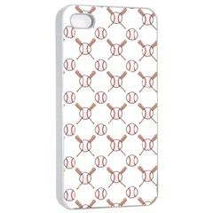 Baseball Bat Scrapbook Sport Apple Iphone 4/4s Seamless Case (white) by Mariart