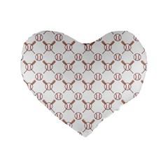 Baseball Bat Scrapbook Sport Standard 16  Premium Flano Heart Shape Cushions by Mariart