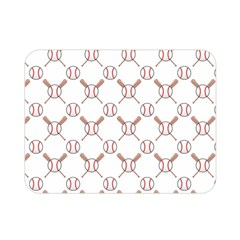 Baseball Bat Scrapbook Sport Double Sided Flano Blanket (mini)  by Mariart