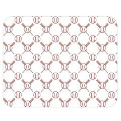 Baseball Bat Scrapbook Sport Double Sided Flano Blanket (medium)  by Mariart
