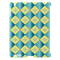 Yellow Blue Diamond Chevron Wave Apple Ipad 3/4 Hardshell Case (compatible With Smart Cover) by Mariart