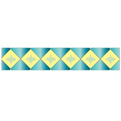 Yellow Blue Diamond Chevron Wave Flano Scarf (large) by Mariart