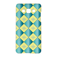 Yellow Blue Diamond Chevron Wave Samsung Galaxy A5 Hardshell Case  by Mariart