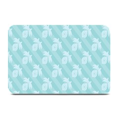 Christmas Day Ribbon Blue Plate Mats by Mariart