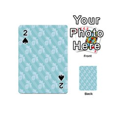 Christmas Day Ribbon Blue Playing Cards 54 (mini)  by Mariart