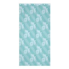 Christmas Day Ribbon Blue Shower Curtain 36  X 72  (stall)  by Mariart