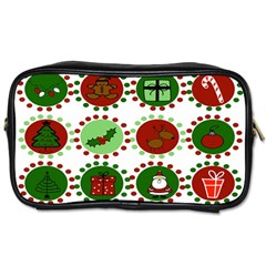 Christmas Toiletries Bags 2 Side by Mariart