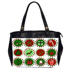 Christmas Office Handbags (2 Sides)  by Mariart